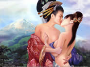 Geisha Girls Kissing - Members Only...