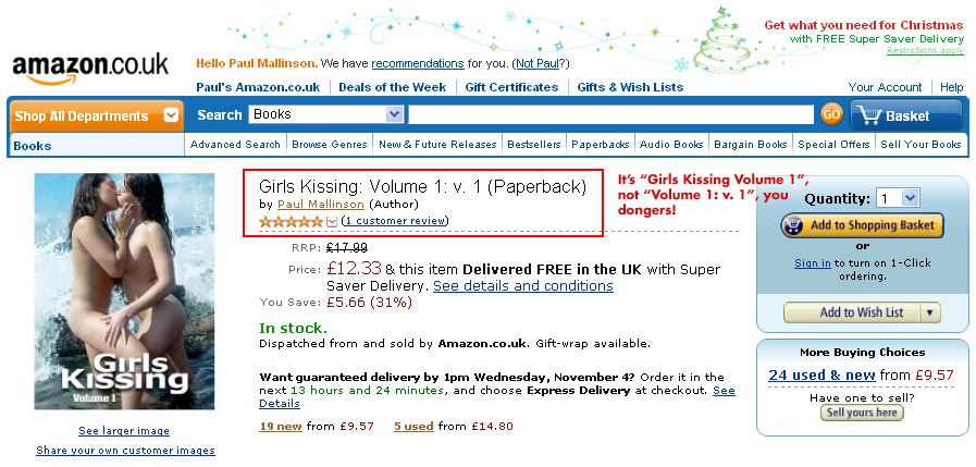 Will Amazon UK ever get the title right on my book?